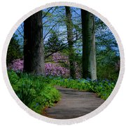 The Road To Peace And Quiet Round Beach Towel