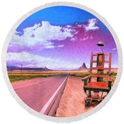 The Road To Perdition Round Beach Towel