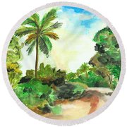 The Road To Tiwi Round Beach Towel