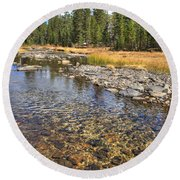 The Rocks Of Rock Creek Round Beach Towel