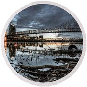 The Roebling Gotham Style Round Beach Towel
