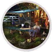 The Roger Painting Round Beach Towel