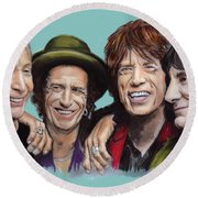 The Rolling Tongues Round Beach Towel