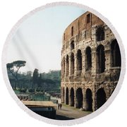 The Roman Colosseum Round Beach Towel