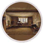 The Room In Which Shakespeare Was Born Round Beach Towel