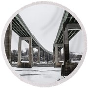 The Roosevelt Expressway Bridges Round Beach Towel