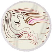 the Roost Round Beach Towel