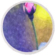 The Rose Bud Round Beach Towel