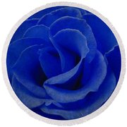 The Rose Of Sadness Round Beach Towel