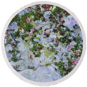 The Roses Round Beach Towel