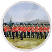 The Royal Fusiliers Round Beach Towel
