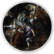The Royal Hunt Of Dido And Aeneas Round Beach Towel