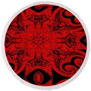 The Royal Red Crest Round Beach Towel
