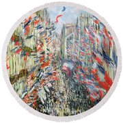 The Rue Montorgueil Round Beach Towel
