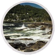 The Rugged Beauty Of The Oregon Coast - 1 Round Beach Towel