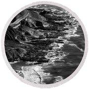 The Rugged Beauty Of The Oregon Coast - 4  Round Beach Towel