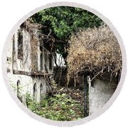 The Ruined Cottage Round Beach Towel