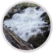 The Rushing River Round Beach Towel