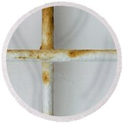 The Rusting Cross Round Beach Towel