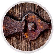 The Rusty Hinge Round Beach Towel