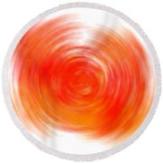 The Sacral Chakra - Orange Round Beach Towel