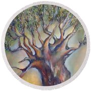 The Sacred Tree Round Beach Towel