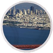 The San Francisco Zoo Round Beach Towel