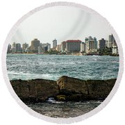 The San Juan Puerto Rico Cityscape Round Beach Towel