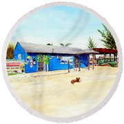 The Sand Bar - Margaritaville, Freeport, Bahamas Round Beach Towel