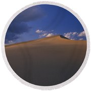 The Sand Dunes - Death Valley Round Beach Towel
