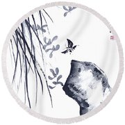 The Scent Of Spring Round Beach Towel