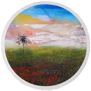 The Scented Sky Round Beach Towel