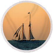 The Schooner America Round Beach Towel