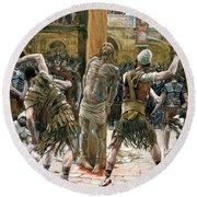 The Scourging Round Beach Towel by Tissot
