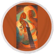 The Scroll Round Beach Towel