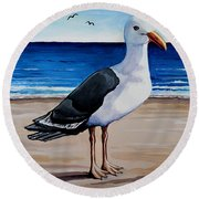 The Sea Gull Round Beach Towel