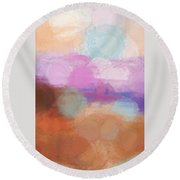 The Sea That Dreams Are Made Of Round Beach Towel