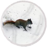 The Search Is Over Round Beach Towel