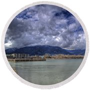 The Seasons On Lake Pend Oreille Round Beach Towel