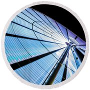 The Seattle Great Wheel Round Beach Towel