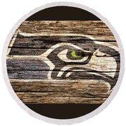 The Seattle Seahawks 2f Round Beach Towel