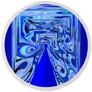 The Secret Room Abstract Round Beach Towel