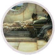The Secret Round Beach Towel by Sir Lawrence Alma-Tadema