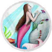 The Seer Round Beach Towel