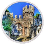 The Senator Castle - Il Castello Del Senatore Round Beach Towel