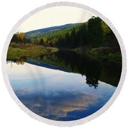 The Serenity Of The Moyie  Round Beach Towel