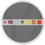 The Seven Chakras Round Beach Towel