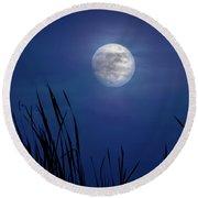 The Seventh Moon Round Beach Towel
