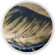 The Shadow Vette Round Beach Towel