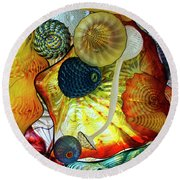 The Shape Of Color 3 Round Beach Towel